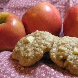 Apple Oatmeal Cookies I Recipe - This recipe delivers a deliciously fruity variation on oatmeal cookies, packing them with apple and walnuts.