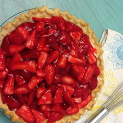 Strawberry Cream Pie To Die For Recipe - Fresh strawberries top a sweet layer of whipped cream and cream cheese for a pretty pie you'll be proud to serve to family or guests. A prebaked pie shell and purchased glaze make it so easy.