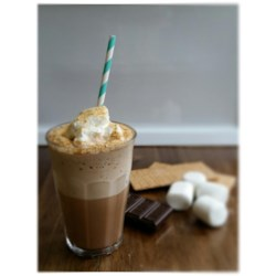 Campfire S'Mores Frappuccino(R) Recipe - Who doesn't love a s'more? This campfire Frappuccino(R) is a s'more drink with a shot of espresso, perfect for a refreshing summer treat.