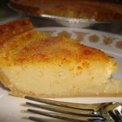 Buttermilk Pie Recipe and Video - A tangy custard is baked in a short crust in this old fashioned dessert.