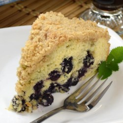 Best Blueberry Buckle Recipe - Moist and tender, this cake has a great blueberry flavor with a hint of cinnamon.