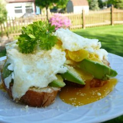 Perfect Breakfast Recipe and Video - This recipe is for an open-faced egg sandwich with avocado and Parmesan cheese.