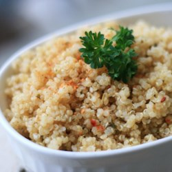 Lemon Herb Quinoa Recipe - Quinoa is perfectly paired with lemon, parsley, basil, and garlic to make this dish that is great with chicken or fish.