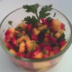 Mango Relish Recipe - The sweet flavors of this relish creates an exotic accompaniment to fish or chicken.  Try pairing with Thai, Indian, or Caribbean dishes or serve with Tortilla chips.  Besides the lift to your tastebuds, the relish will add texture and color to your plate.