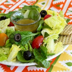 French Greek Salad Dressing Recipe - A classic French vinaigrette with Greek seasoning and lemon is a fresh and tangy dressing for summer salads.