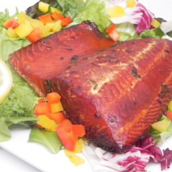 Fire and Ice Smoked Salmon Recipe - The fiery taste of red pepper flakes meets the coolness of mint for a smoked salmon like no other.