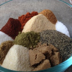 Quick and Easy Barbecue Rub Recipe - Featuring paprika, sugar, brown sugar, oregano, and cayenne pepper, this quick and easy barbeque rub is a hit on ribs, brisket, and pork butt.