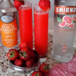 Strawberry Lemonade Cocktail  Recipe - Shake a little strawberry puree with citron vodka and lemonade to make the strawberry lemonade cocktail at your next home happy hour.