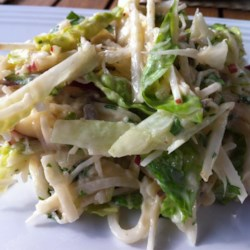 Apple Jicama Coleslaw Recipe - The lightness of apple and jicama combined with a sweet-hot dressing make this coleslaw a hit!