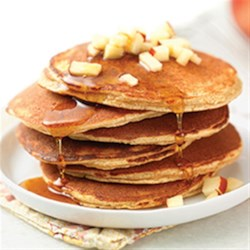Apple Cinnamon Coconut Flour Pancakes Recipe - Fluffy, flavorful, and made with coconut and almond flour, these delicious pancakes may become a new family favorite. They're especially good topped with maple syrup, honey, applesauce, or apple butter.