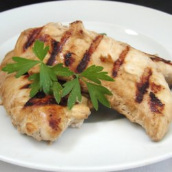 Soy and Garlic Marinated Chicken Recipe - This is the easiest marinade I have ever used, and one of the most popular with my family. This recipe also works well with any cut of chicken--thighs, legs, etc.