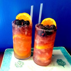 Sherry Cobbler Recipe - Probably invented in the 1830s when the 'frozen water trade' was just hitting its stride. A very refreshing summer drink when the berries are in season.