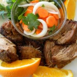 Orange and Milk-Braised Pork Carnitas Recipe - Chunks of pork shoulder are braised in milk with herbs and orange zest in Chef John's recipe for pork carnitas.