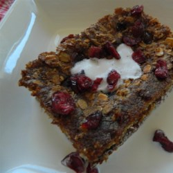 Protein Powerhouse Baked Oatmeal Recipe - Baked oatmeal with nonfat dry milk and eggs is a protein-packed and portable way to eat oatmeal on the go.