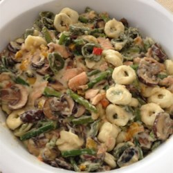 Smoked Salmon Tortellini with Bechamel Sauce Recipe - I derived this recipe after tasting something similar at a restaurant. It is wonderfully rich and filling.
