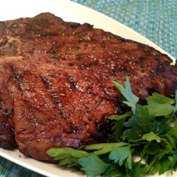 Stroka's Steak Marinade Recipe - This steak marinade is made with soy sauce, lemon juice, Worcestershire sauce, garlic, basil, and brown sugar.