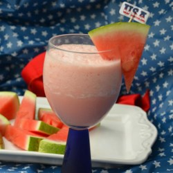 My Rosy Watermelon Milk Shake Recipe - Made with fresh watermelon and sweetened condensed milk, this milkshake is a refreshing twist on the traditional shake.