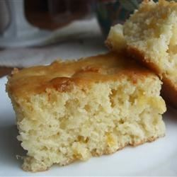 Easy Pineapple Cake Recipe - A very easy pineapple cake with a cream cheese frosting.