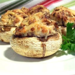 The Best Stuffed Mushrooms Recipe - Stuffing cream cheese, Parmesan cheese, and bacon into mushrooms is a delicious way to impress someone special.