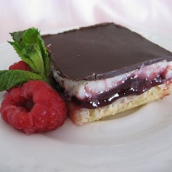 Raspberry Chocolate Supremes Recipe - This is a very tasty bar, good with a hot cup of tea.