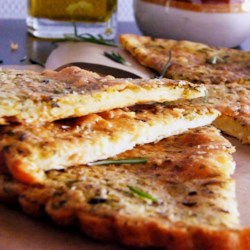 Italian Chickpea Bread Recipe - Chickpea flour replaces corn and wheat flour in this gluten-free recipe for bread with herbs for an Italian-inspired meal item.