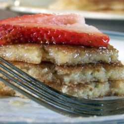 Truck-Stop Buttermilk Pancakes Recipe - A yummy breakfast treat, and very easy to make!! Serve with bacon or sausage, and some fried eggs, wonderful!!! Batter will keep in fridge for a couple of days if you can't make all at once, or you can freeze and make at a later date.