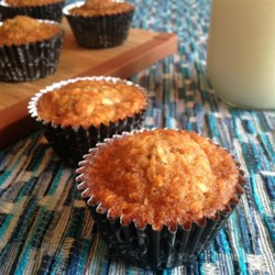 Chocolate Chip Carrot Cake Muffins Recipe - These carrot cake muffins are extra special thanks to chocolate chips added to the batter.