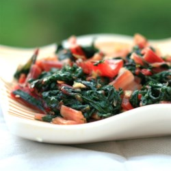 Italian-Style Swiss Chard Recipe - Swiss chard is a staple in many European kitchens, this Italian family recipe is easy to prepare and amazingly flavorful for so few ingredients. With garlic and red pepper, these greens are a delicious and nutrient rich side dish for any meal.