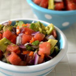 Watermelon Salsa Recipe - Swap watermelon for tomatoes in this fresh watermelon salsa made with habanero peppers, parsley, and avocado.