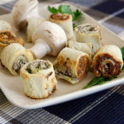 Mushroom Bouchees Recipe - These are perfect, bite-size mushroom appetizers that are always a hit at parties and family gatherings.