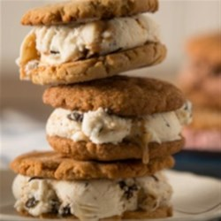 Snickerdoodle Cookie Ice Cream Sandwich Recipe - Creamy salted caramel chip ice cream is sandwiched between two snickerdoodle cookies for a special summertime (or anytime) treat.