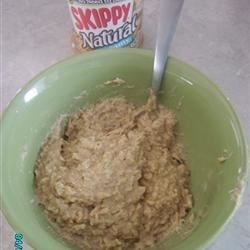 Quick and Easy Peanut Butter Oatmeal Recipe - Peanut butter flavored oatmeal is fortified with egg whites and ground flax seed.