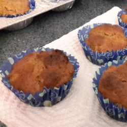 Mini Gluten-Free Banana Coffee Cakes Recipe - These moist and flavorful banana-flavored dessert muffins are made gluten-free with a gluten-free baking mix.