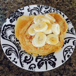 No Milk, No Wheat, Banana Pancakes Recipe - These wheat-free and dairy-free pancakes are made with bananas, eggs, and oats for a quick and easy breakfast.