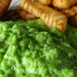 Mushy Peas I Recipe - Mushy Peas are a great side dish with entrees such as fried cod or savory salmon, and sides like tater tots. Note: You can add more liquid (water or cream) depending how mushy you want your peas. Use low fat milk if you're calorie-conscious.