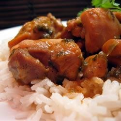 Trinidad Stewed Chicken Recipe - Chicken is browned and simmered in a spicy coconut sauce. Adjust the amount of hot pepper to suit your taste. This dish goes with anything.