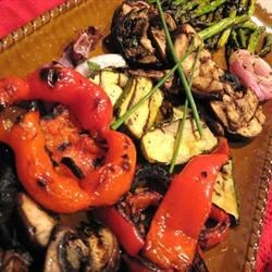 Eggplant Mixed Grill Recipe - Marinated vegetables are grilled to perfection.