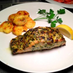 Chef John's Salmon Recipe and Video - This simple broiled salmon dish is full of flavor, thanks to the combination of tarragon and Italian parsley in the herb spread.