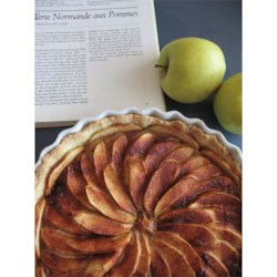 french apple tart tarte de pommes a la normande recipe. Black Bedroom Furniture Sets. Home Design Ideas
