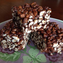 Cafe-Style Puffed Wheat Squares Recipe - Chocolate puffed wheat squares with a spicy twist are great with coffee.