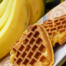 Whole Wheat Banana Waffles Recipe - Transform your overripe bananas into tasty banana waffles made with whole wheat flour for a hearty start to the day.