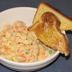 Super Shrimp and Veggie Pasta Salad Recipe - This is an adaptation of my Mom's recipe.  A very colorful salad that's great any time of the year.  I've also substituted frozen shrimp for canned on occasion, depending on availability.