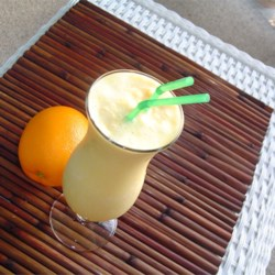 Easy Orange Cream Slush Recipe - This is a simple and delicious recipe for a cool and creamy orange drink.
