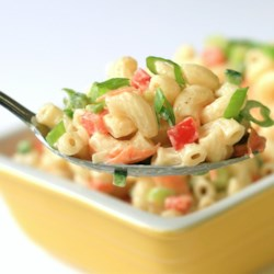 Chef John's Classic Macaroni Salad Recipe - Like a classic deli macaroni salad but less sweet, this crowd pleaser with lots of colorful veggies is a great side for grilled food, barbeque, or just a humble hot dog.