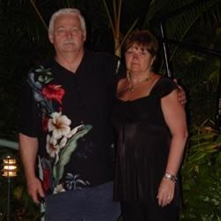 my husband George and I in Hawaii