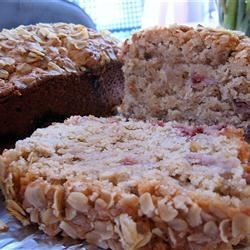 Oatmeal Strawberry Bread Recipe - Strawberries, oatmeal, and cinnamon flavor this delicious quick bread.