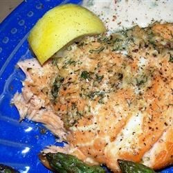 Cedar Plank Grilled Salmon with Garlic, Lemon and Dill