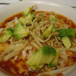 Chicken Tortilla Soup I Recipe - This chicken tortilla soup is quick to make, flavorful, and filling, plus it freezes well. Garnish with avocado, Monterey Jack cheese, or green onion!