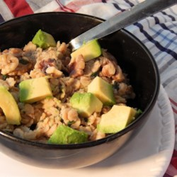 Miso Oatmeal Bowl Recipe - Mix miso, spinach, walnuts, and avocado into your oats for an Asian-inspired, savory version of oatmeal.