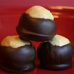 Buckeyes I Recipe and Video - This recipe is so good that I double it whenever I make it. Since it is peanut butter balls dipped in chocolate it is almost like candy.  Real buckeyes are nuts that grow on trees and are related to the horse chestnut.